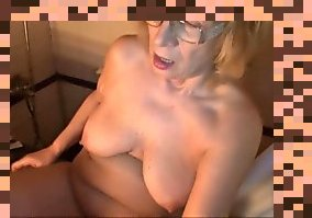 hairy granny masturbating